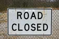 Free Road Closed Sign Stock Photography - 20437492