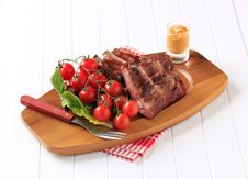 Smoked Pork Ribs Royalty Free Stock Images