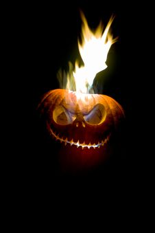 Free Flaming Jack O Lantern Stock Photos - 20438063