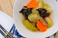 Mixed Vegetables Dish With Oriental Gravy Royalty Free Stock Photos