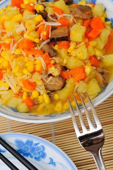 Free Asian Style Potato Dish Royalty Free Stock Photo - 20438635