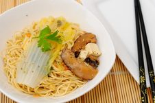 Japanesel Style Noodle Cuisine Stock Photo