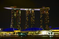 Marina Bay Night View Singapore