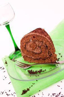 Free Chocolate Roulade Royalty Free Stock Photos - 20438938