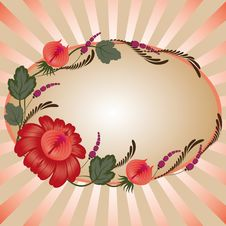 Free Red Flowers On A Beige Background Royalty Free Stock Images - 20438939