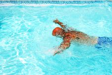 Free Man In Swimming Pool Royalty Free Stock Images - 20438949