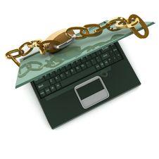 Notebook Security Stock Photos