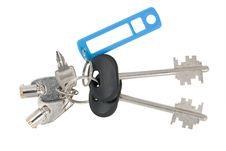 Free Blank Tag And Keys Royalty Free Stock Photo - 20439215