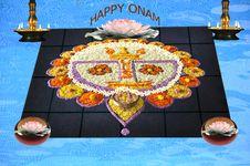 Free Onam Flower Decoration Royalty Free Stock Images - 20439289