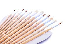 Free Painting Brushes Royalty Free Stock Photography - 20439337