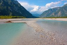Free View Of Mountain River In Summer Royalty Free Stock Image - 20439386