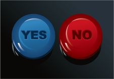 Free Set Of Yes/No Buttons Stock Photography - 20439432