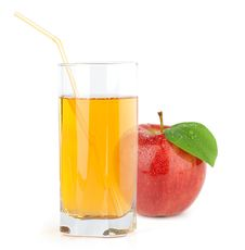 Red Apple With Juice Royalty Free Stock Photography