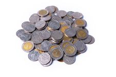 Free Thai Coin Isolated Royalty Free Stock Photography - 20439657