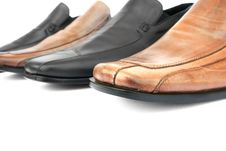 Brown And Black Shoes Stock Photography