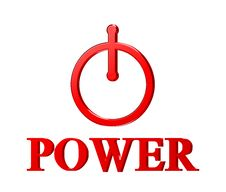 Free Red Power Button Royalty Free Stock Photography - 20439757