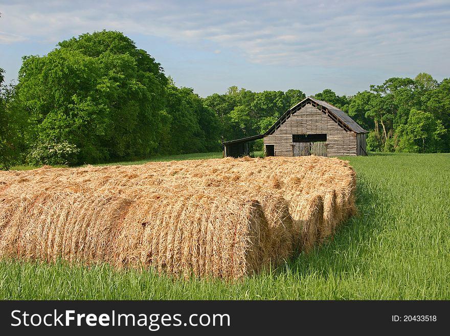 Hay Rolls & Barn