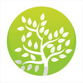 Free Glossy Green Tree Button Royalty Free Stock Image - 20442446
