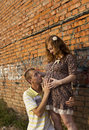 Free Young Man Kisses His Pregnant Wife Royalty Free Stock Photo - 20442785