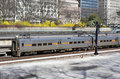 Free Commuter Train In Downtown Area Leaving Statio Royalty Free Stock Photography - 20448447