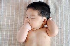 Free Baby Lying Royalty Free Stock Photography - 20440257