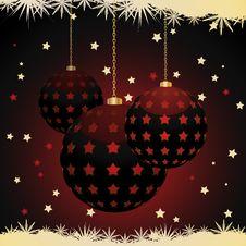 Free Christmas Lantern Baubles With Snowflake Border Royalty Free Stock Image - 20440286