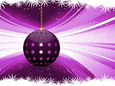 Free Purple Christmas Bauble Background Royalty Free Stock Images - 20440309