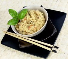 Free Risotto With Chppsticks Royalty Free Stock Photo - 20440785
