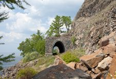 Free Old Railroad Tunnel Near Lake Baikal Royalty Free Stock Photography - 20440987