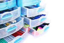 Stationery Drawers Stock Photography