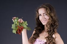Free Beautiful Young Woman With Berries Red Currant Stock Photos - 20441183