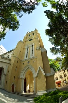 Free Fisheye View Of St John Cathedral Church, Hong Kon Royalty Free Stock Photo - 20441205
