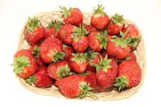 Free Strawberry In A Basket Royalty Free Stock Photography - 20441297