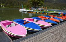 Boats On Lake Royalty Free Stock Photos