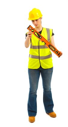 Woman Construction Royalty Free Stock Photography