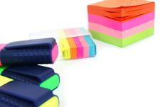Free Colorful Paper And Markers Stock Image - 20442111