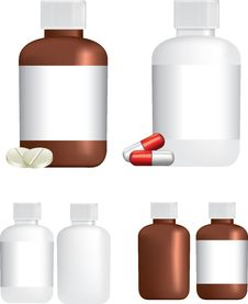 Medicine Pill Bottles Royalty Free Stock Image