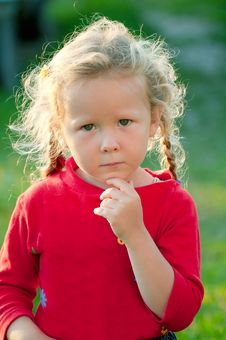 Free Girl In Red Stock Photo - 20442380