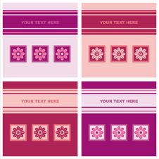 Free Cute Floral Cards Royalty Free Stock Photos - 20442428