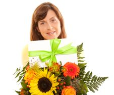 Free Coupon On Flowers Royalty Free Stock Photos - 20442438