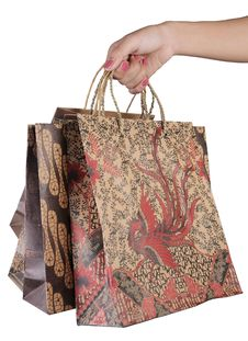 Free Female Hand Holding Shopping Bags Royalty Free Stock Photos - 20442858