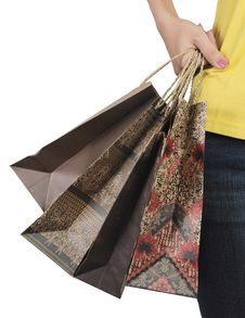 Free Woman Hand Holding Shopping Bag Stock Photo - 20442880