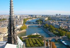 Free View From Notre Dame De Paris Stock Photography - 20443192