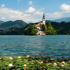 Free Lake Bled In Slovenia Stock Photography - 20443442