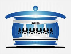 People In Bank Stock Photo
