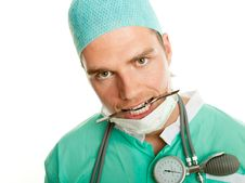 Free Crazy Doctor With Scalpel Stock Images - 20443574