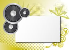 Free Sheet With Loudspeaker And Decoration Royalty Free Stock Images - 20443899