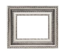 Free Silver Art Frame Isolated On White Background Royalty Free Stock Images - 20443969