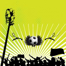 Free Football Background Royalty Free Stock Photography - 20444317