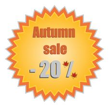 Free Star For Autumn Discount Prices. Vector Illustrati Stock Photography - 20445002